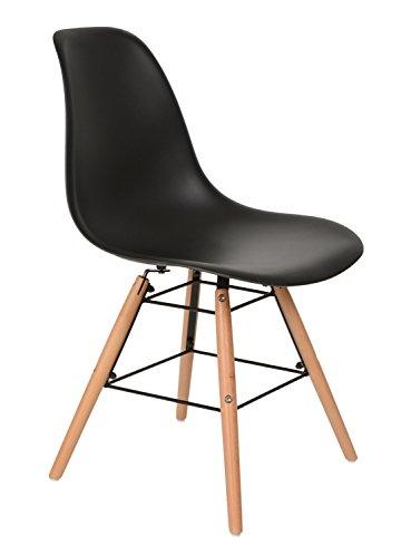 1 x design klassiker stuhl retro 50er jahre barstuhl k chenstuhl esszimmer wohnzimmer sitz in. Black Bedroom Furniture Sets. Home Design Ideas