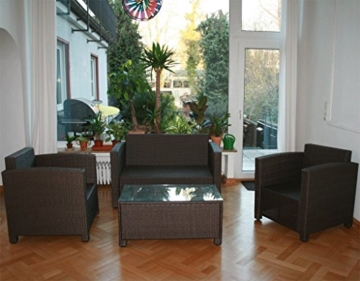 13tlg. Deluxe Lounge Set Gruppe Garnitur Gartenmöbel Loungemöbel Polyrattan Sitzgruppe - handgeflochten - braun-mix von XINRO® -