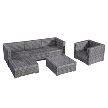13tlg.Lounge Set Gartenmöbel Rattan Set Polyrattan Sitzgruppe Rattanmöbel Garnitur Garten -
