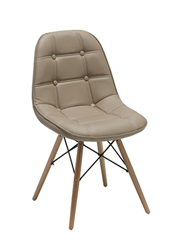 2er set esszimmerstuhl aus kunstleder cappuccino farbauswahl retro design stuhl mit r ckenlehne. Black Bedroom Furniture Sets. Home Design Ideas