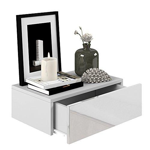 2x nachttisch kommode nachtschrank schublade ablage schrank schlafzimmer wei hochglanz. Black Bedroom Furniture Sets. Home Design Ideas