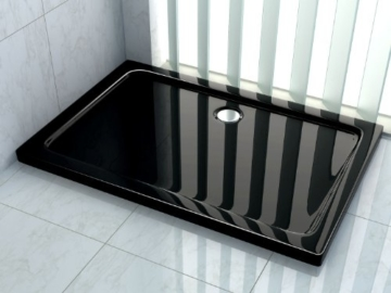 50 mm Duschtasse 120 x 80 cm (schwarz) -