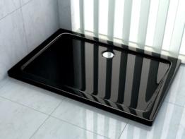 50 mm Duschtasse 80 x 90 cm (schwarz) -