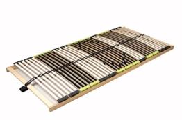 """7 Zonen Lattenrost Lattenrahmen zerlegt Lattenrost """"DaMi Relax NV"""" mit 42 Federholzleisten und 6 fache Härteverstellung (120 x 200 cm) -"""
