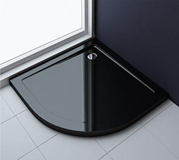 90x90x4 cm Design Duschtasse Faro3b in schwarz, Duschwanne, Acrylwanne -