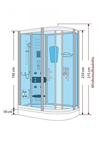 acquavapore dtp8060 7000r dusche duschtempel komplett. Black Bedroom Furniture Sets. Home Design Ideas
