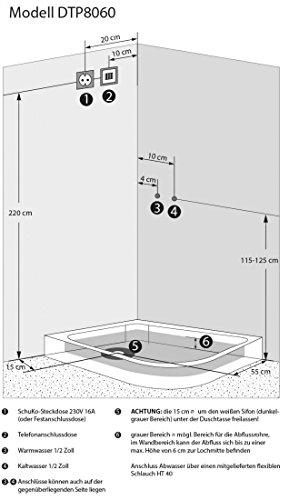 acquavapore dtp8060 7000r dusche duschtempel komplett duschkabine 80 120. Black Bedroom Furniture Sets. Home Design Ideas
