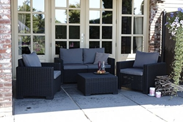 Allibert Lounge Sofa Rattan, Lounge California Sofa, Grau, 2-Sitzer -