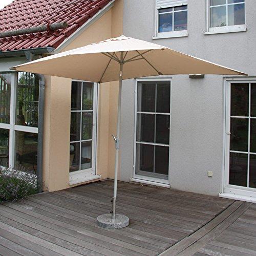 alu sonnenschirm gartenschirm n23 2x3m rechteckig neigbar rostfrei creme. Black Bedroom Furniture Sets. Home Design Ideas