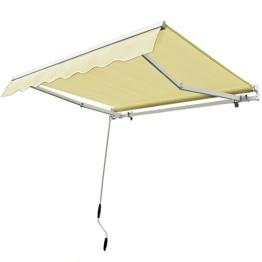 Aluminium Markise elfenbeinweiß - ALU Markise Sonnenschutz Kassettenmarkise Gelenkarmmarkise Sonnensegel -