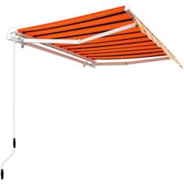 Aluminium Markise orange-schwarz - Sonnenschutz Kassettenmarkise Gelenkarmmarkise Sonnensegel -