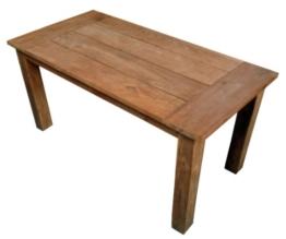 Ambientehome Teakholz Tisch Esstisch retro recycelt Grenada, braun, ca. 160 x 80 cm -