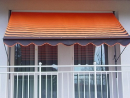 Angerer Klemmmarkise Dralon Nr. 200, Orange, 300 cm -