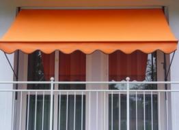 Angerer Klemmmarkise PE-Gewebe Uni, Orange, 300 cm -