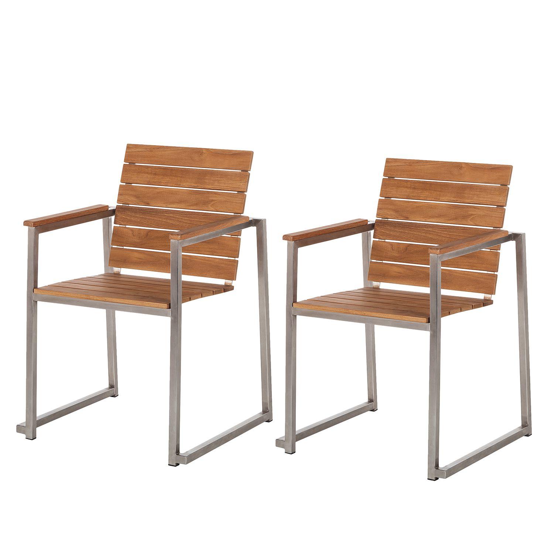 armlehnstuhl teakline exklusiv i 2er set teakholz. Black Bedroom Furniture Sets. Home Design Ideas