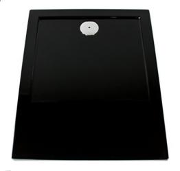 Art-of-Baan® - Extra flache Duschtasse, Duschwanne aus Acryl, glatt schwarz; 120x80x3,5cm inkl. Ablaufgarnitur -