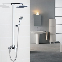 """Auralum® Modern quartett Duschsystem Duscharmatur """" f """" shower set Wasserfall Duschen Duschset Brauseset Inkl. Hochwertige Handbrause + Duschkopf Wandhalterung Duschpaneel -"""