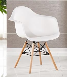 Bentley Home Stuhl, Polypropylen und aus Buchenholz, weiß, 60x 62x 80cm -
