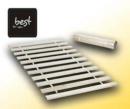 Best For You Rollrost aus 10,15 oder 20 massiven stabilen Holzlatten Geeignet für alle Matratzen - in 2 Grössen 90x200 cm und 140x200 cm (90x200-10 - für Kinder) -