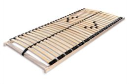 Betten-ABC Lattenrost MAX 1 NV MZV, zur Selbstmontage, mit 28 stabilen und flexiblen Federholzleisten und durchgehenden Holmen, mit Mittelzonenverstellung im Beckenbereich, Größe: 80 x 200 cm -