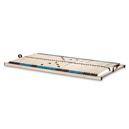 Betten-ABC Lattenrost Superflex NV-MZV, zur Selbstmontage, mit 42 stabilen und flexiblen Federholzleisten und durchgehenden Holmen, mit Mittelzonenverstellung im Beckenbereich, 90 x 200 cm -