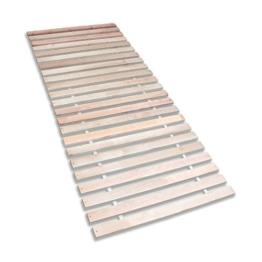 Betten-ABC Premium Rollrost (Stabiles Erlenholz, mit 23 Leisten und Befestigungsschrauben, Größe 90x200 cm) -