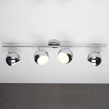 CAGÜ - DESIGN 4er HÄNGELAMPE [URANUS] CHROM 105cm LÄNGE -