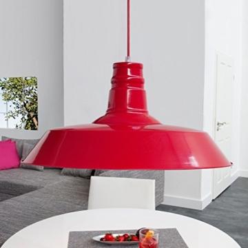 CAGÜ - INDUSTRIAL-DESIGN HÄNGELAMPE [LOFT] ROT aus METALL 45cm Ø -