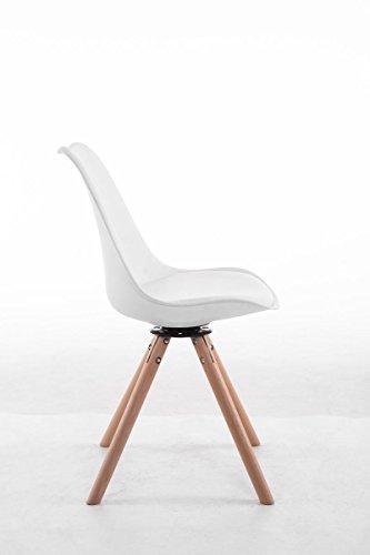 clp design retro stuhl troyes rund kunststoff lehne kunstleder sitz drehbar gepolstert. Black Bedroom Furniture Sets. Home Design Ideas