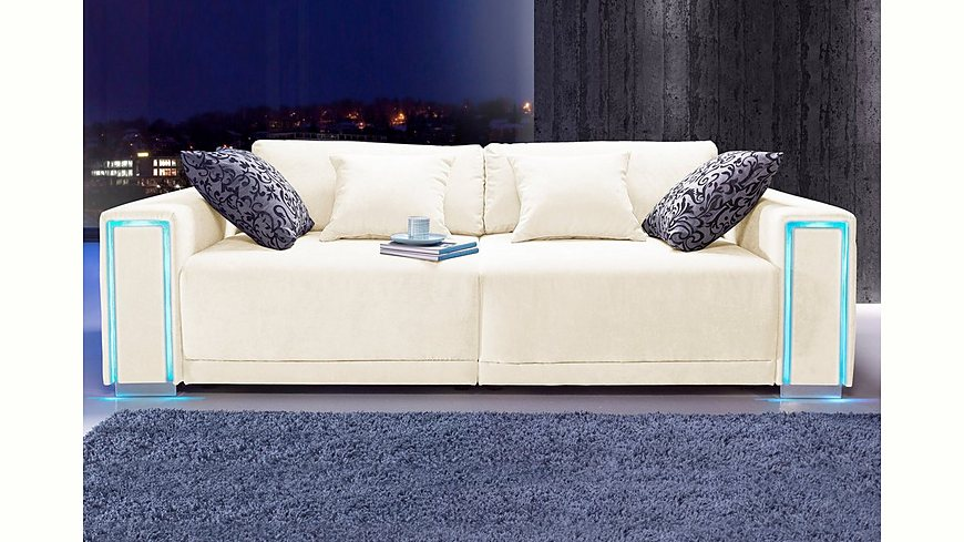 collection ab big sofa gr e l xxl inklusive led rgb. Black Bedroom Furniture Sets. Home Design Ideas