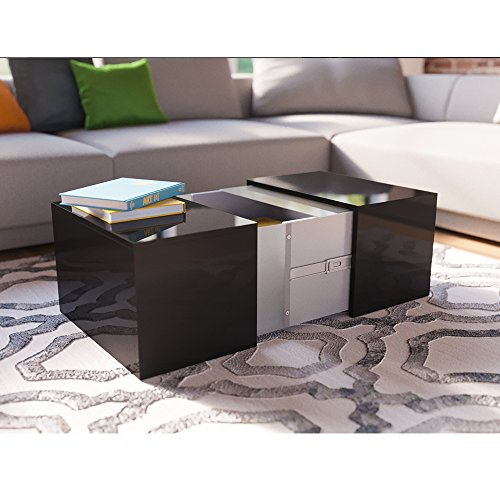 couchtisch led schwarz hochglanz loungetisch wohnzimmer. Black Bedroom Furniture Sets. Home Design Ideas