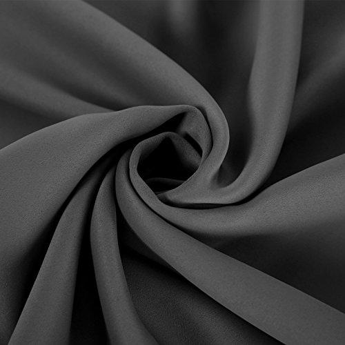 deconovo blickdicht gardinen mit sen f r schlafzimmer thermogardinen vorhang blickdicht 245 140. Black Bedroom Furniture Sets. Home Design Ideas