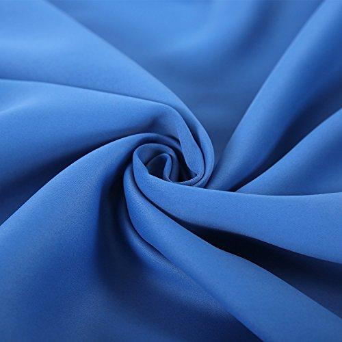 Deconovo verdunkelungsvorhang schlaufen gardinen for Verdunkelungsvorhang blau