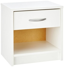 Demeyere 305895 Nachttisch, 1 Schublade, 1 Regal, perle weiß -
