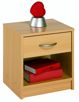 Demeyere 4602 Nachttisch, 1 Schublade, 1 Regal, buche natur -