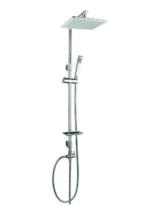 Design Duschset Dusche Duschstange Handbrause Regenbrause Kopfbrause Chrom -