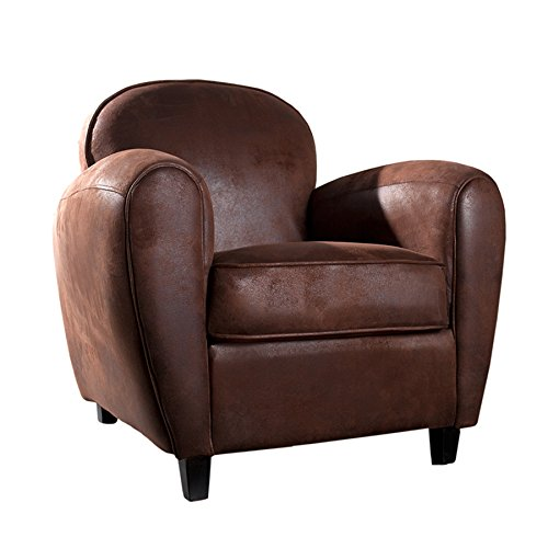 design retro sessel whiskey club mikrofaser vintage cigar braun polstersessel wohnzimmer. Black Bedroom Furniture Sets. Home Design Ideas