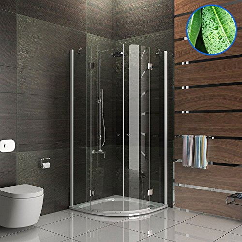 Design rund echtglas dusche duschkabine duschabtrennung for Moebel24 shop