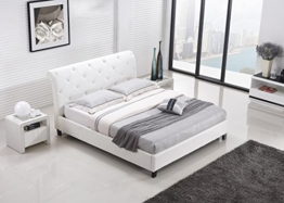 Designer Bett BAROCK MODERN 160x200 cm #78 Doppelbett (160x200 cm, Weiß) -
