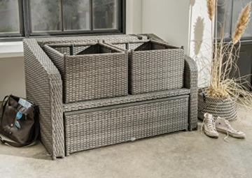 Destiny Lounge Jersey II Grau Gartenmöbelset Loungeset 4teilig Sitzgruppe Polyrattan -