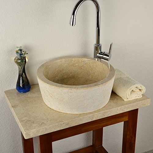 divero designbecken marmor naturstein aufsatz