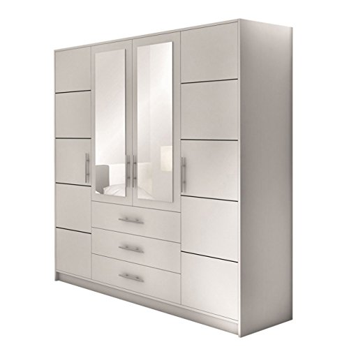 dreht renschrank bali 4d kleiderschrank mit spiegel schubladen und spiegelt ren elegantes. Black Bedroom Furniture Sets. Home Design Ideas