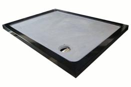 Duschwanne aus Naturstein, Duschtasse, Granit, 120*90cm, India Black Schwarz -