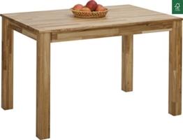 Esstisch Massivholz Eiche 100% FSC Bonn Esszimmertisch Massivholz Tisch (110 x 75 x 75 cm) -