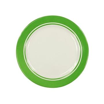 Fridani MDC Dinnerware - 8-teiliges Melamine Geschirr, 2 Becher, 4 Teller in 2 Größen, 2 Schüsseln -