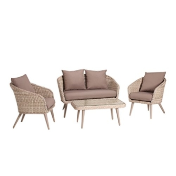 Garten Loungemöbel OUTLIV. Argentinien 4-tlg Loungeset Polyrattan Loungegruppe Outdoor Lounge Set -