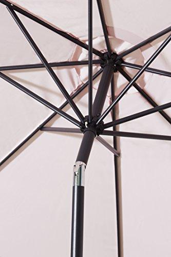 gartenfreude sonnenschirm durchmesser 270 cm uv 50 270 x 270 x 245 cm rosa 4900 1000 111. Black Bedroom Furniture Sets. Home Design Ideas