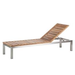Gartenliege Soho Teakholz mit Edelstahl hochwertig Teakmöbel Sonnenliege Holzliege -