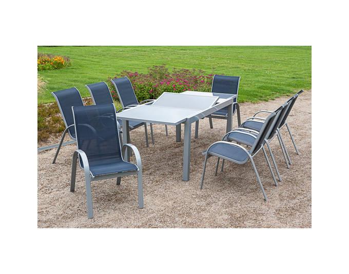 gartenm bel set amalfi silber marine 9 tlg m bel24 online. Black Bedroom Furniture Sets. Home Design Ideas