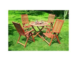 Gartenmöbel-Set Vitoria 5tlg, aus FSC® Eukalyptusholz